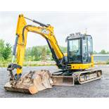 JCB 85 Z-1 8 tonne rubber tracked excavator Year: 2016 S/N:2500941 Recorded Hours: 2776 piped,
