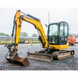 JCB 8050 RTS 5 tonne rubber tracked excavator Year: 2013 S/N: 741918 Recorded Hours: 3892 Piped,