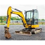 JCB 8030 3 tonne rubber tracked mini excavator Year: 2012 S/N: 2021567 Recorded Hours: 3523 blade,