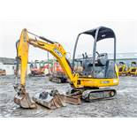 JCB 8014 CTS 1.5 tonne rubber tracked mini excavator Year: 2014 S/N: 2070507 Recorded Hours: 1678