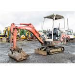 Kubota KX36-3 1.5 tonne rubber tracked mini excavator Year: 2008 S/N: Z077877 Recorded Hours: 3548