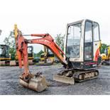 Kubota KX36-3 1.5 tonne rubber tracked mini excavator Year: S/N: 5528 blade, piped & 3 buckets