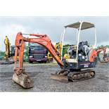 Kubota KX36-3 1.5 tonne rubber tracked mini excavator Year: S/N: 7075955 Recorded Hours: 3843 blade,