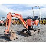 Kubota K008-3 0.8 tonne rubber tracked micro excavator Year: 2007 S/N: 17838 Recorded Hours: 2350