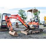 Kubota U17-3 1.7 tonne rubber tracked mini excavator Year: 2011 S/N: H13948 Recorded Hours: 2779