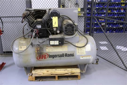 RECIPROCATING AIR COMPRESSOR, INGERSOLL RAND MDL  254, 10 HP motor