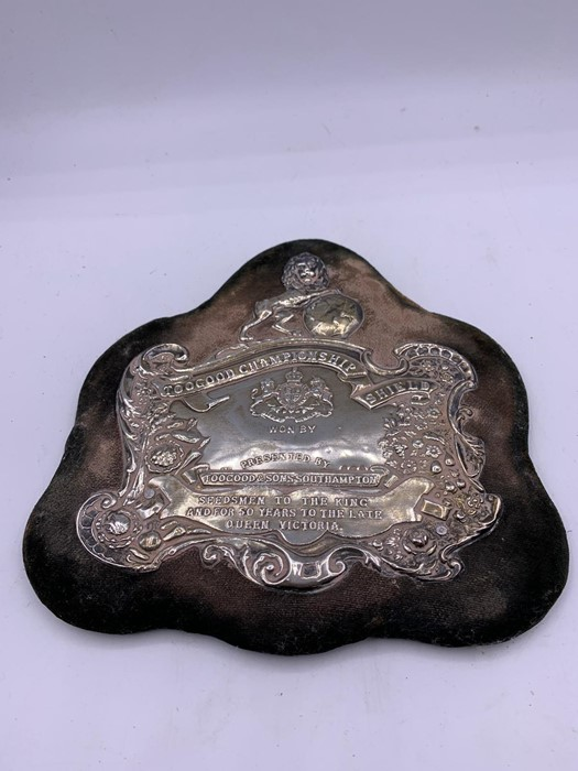 Lot 11 - A Silver Shield, 'The Too good Championship Shield.