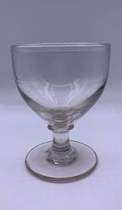 A Rummer with a ogee bowl on a plain steam a d blade knop collar