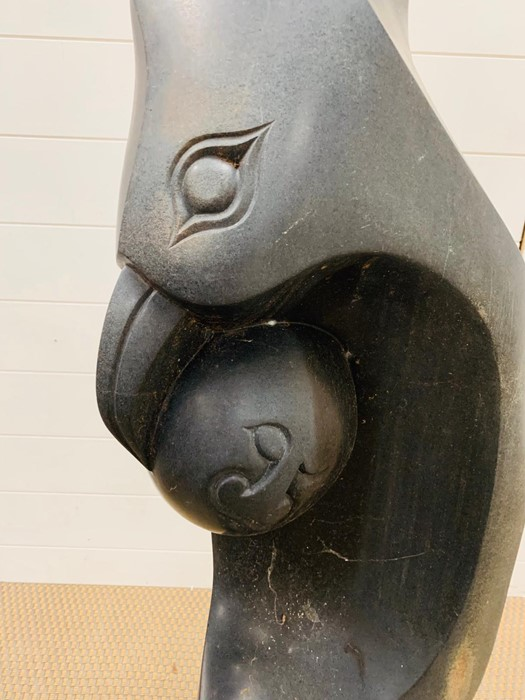 A stone sculpture of a Bird with an egg - Image 3 of 3