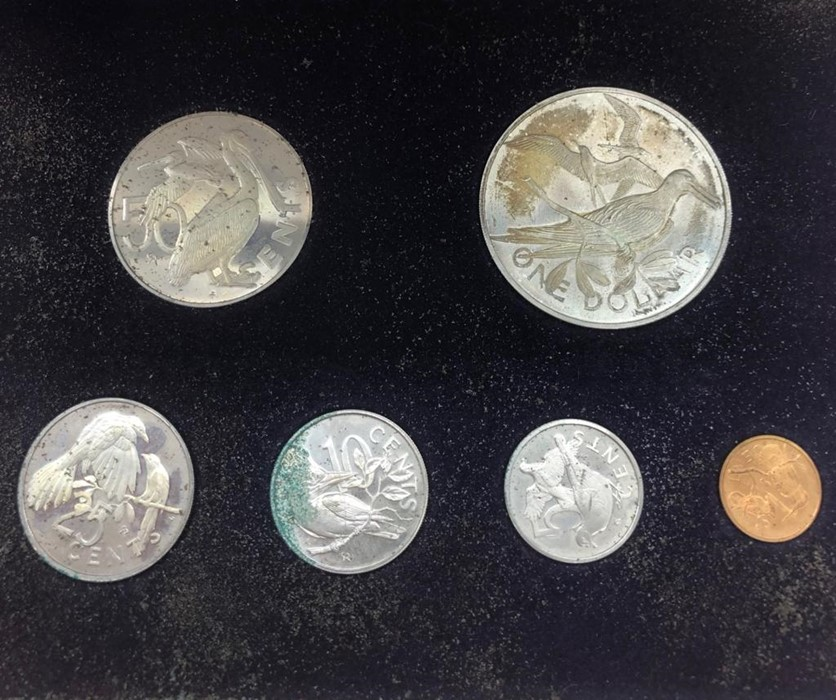 First Official Coinage of the British Virgin Islands 1973 including a silver dollar - Image 2 of 2