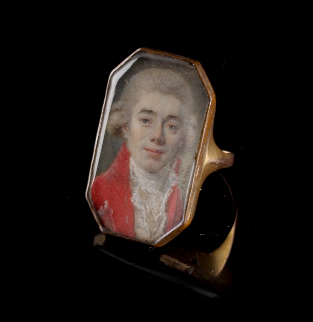 Lot 303 - Property of a lady - a late 18th century portrait miniature depicting a gentleman, signed 'P.N.