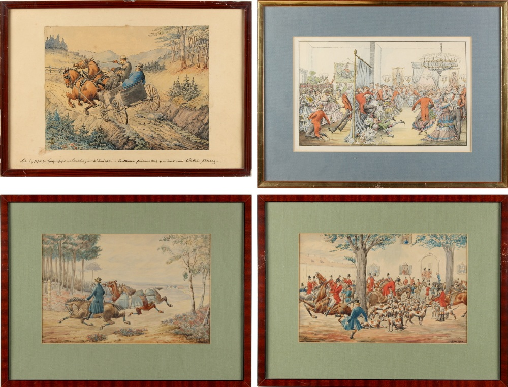 Lot 529 - Property of a lady of title - FW (German, late 19th / early 20th century) - THE MEETING OF THE