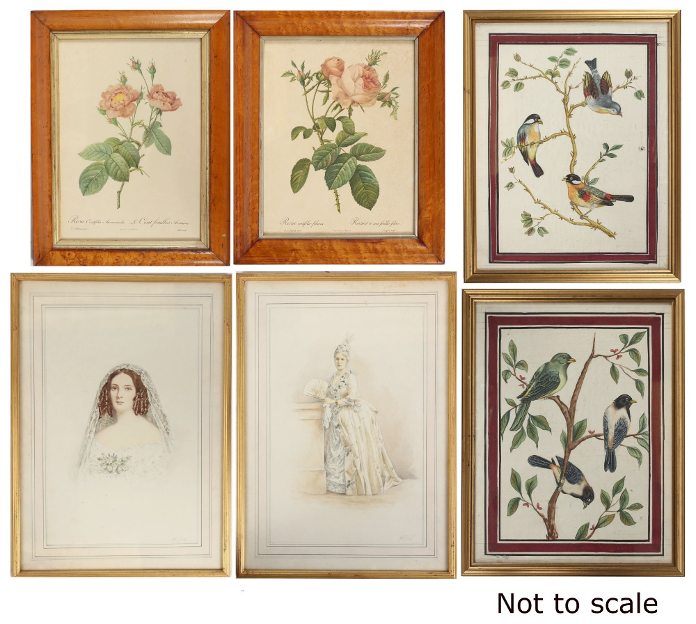 Lot 615 - Property of a lady - H.J.W. (late 19th / early 20th century) - PORTRAIT OF A BRIDE and PORTRAIT OF A