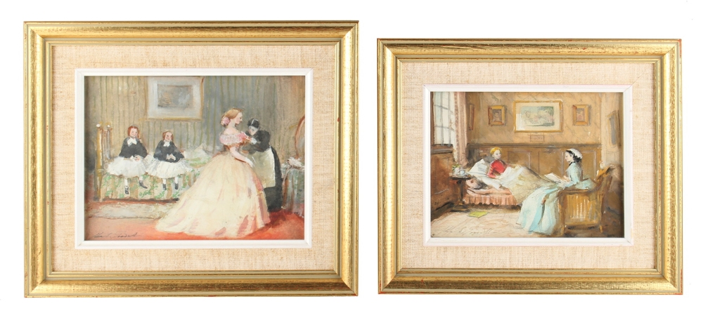 Lot 422 - Property of a lady - John Strickland Goodall (1908-1996) - 'HER FIRST BALL' and 'CONVALESCENCE' -