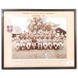 WWII MEDAL & BN MALAY REGIMENTAL PHOTOGRAPH