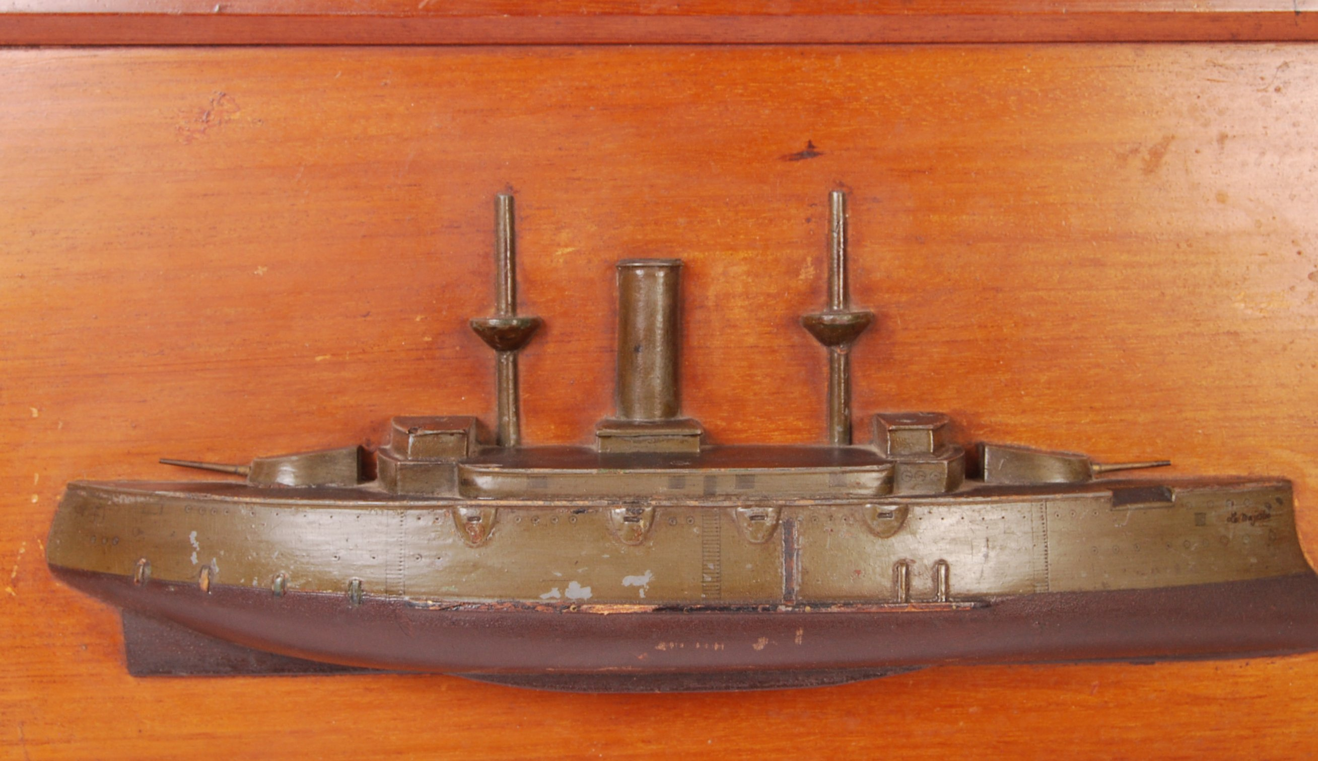 RARE WWI FRENCH HALF BLOCK MODEL OF AN IRONCLAD BATTERY - Image 2 of 4