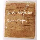 HENRY MOORE WWII SECOND WORLD WAR SHELTER SKETCH BOOK