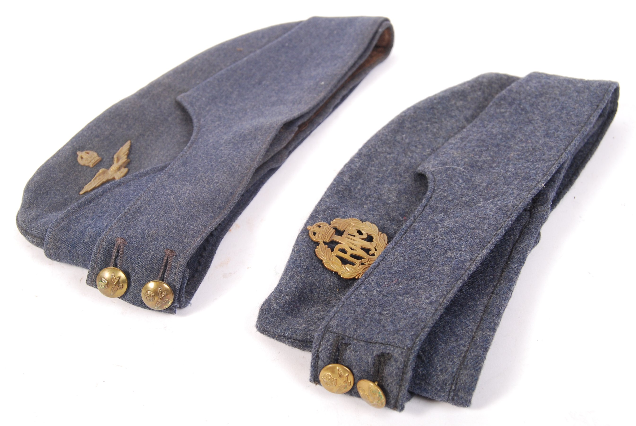WWII SECOND WORLD WAR RAF UNIFORM FORAGE CAPS - Image 2 of 3