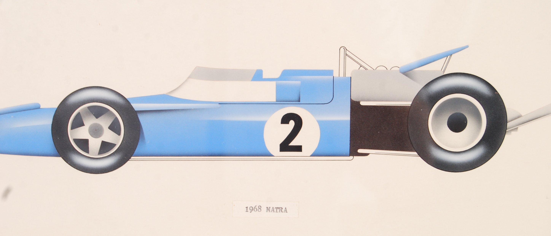 Lot 160 - RARE BROOKE BOND TEA CARD RACING CAR ARTWORK