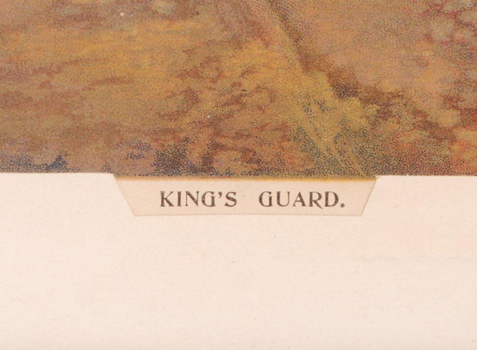 Lot 312 - COLE & DUTTON LARGE ' KING'S GUARD ' LITHOGRAPH PRINT