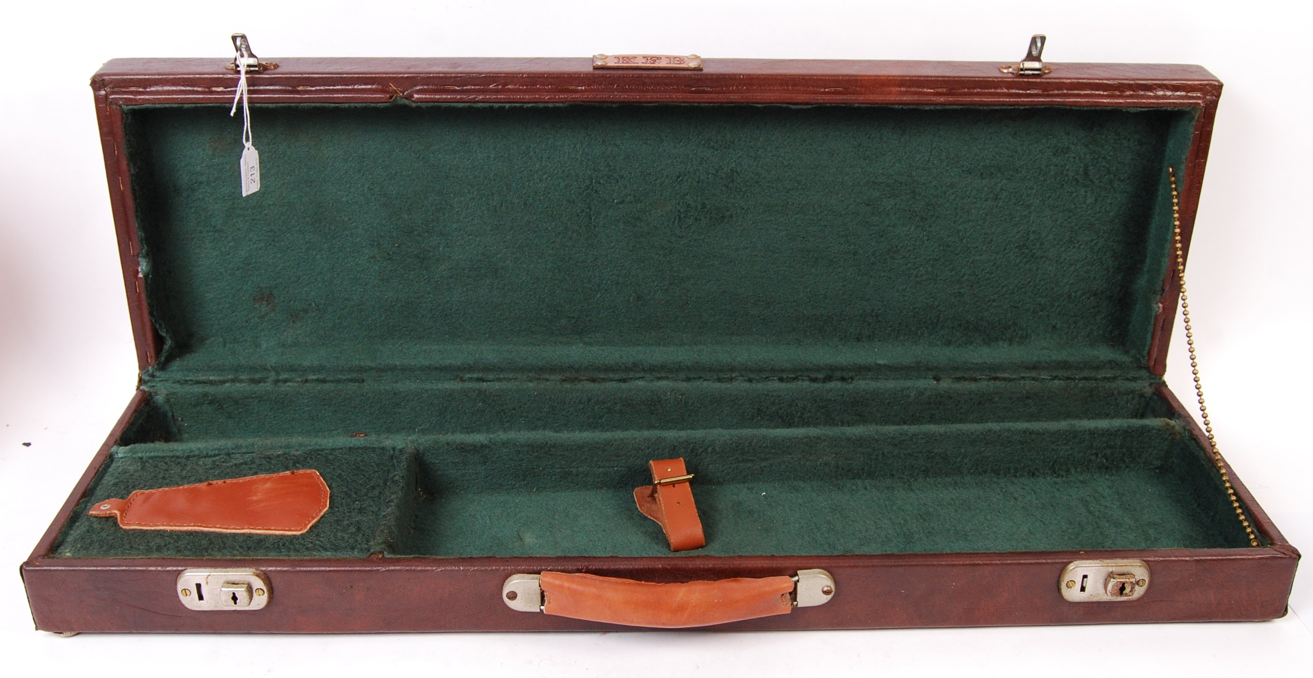 VINTAGE LEATHER SHOTGUN CASE WITH FITTED INTERIOR - Image 3 of 3