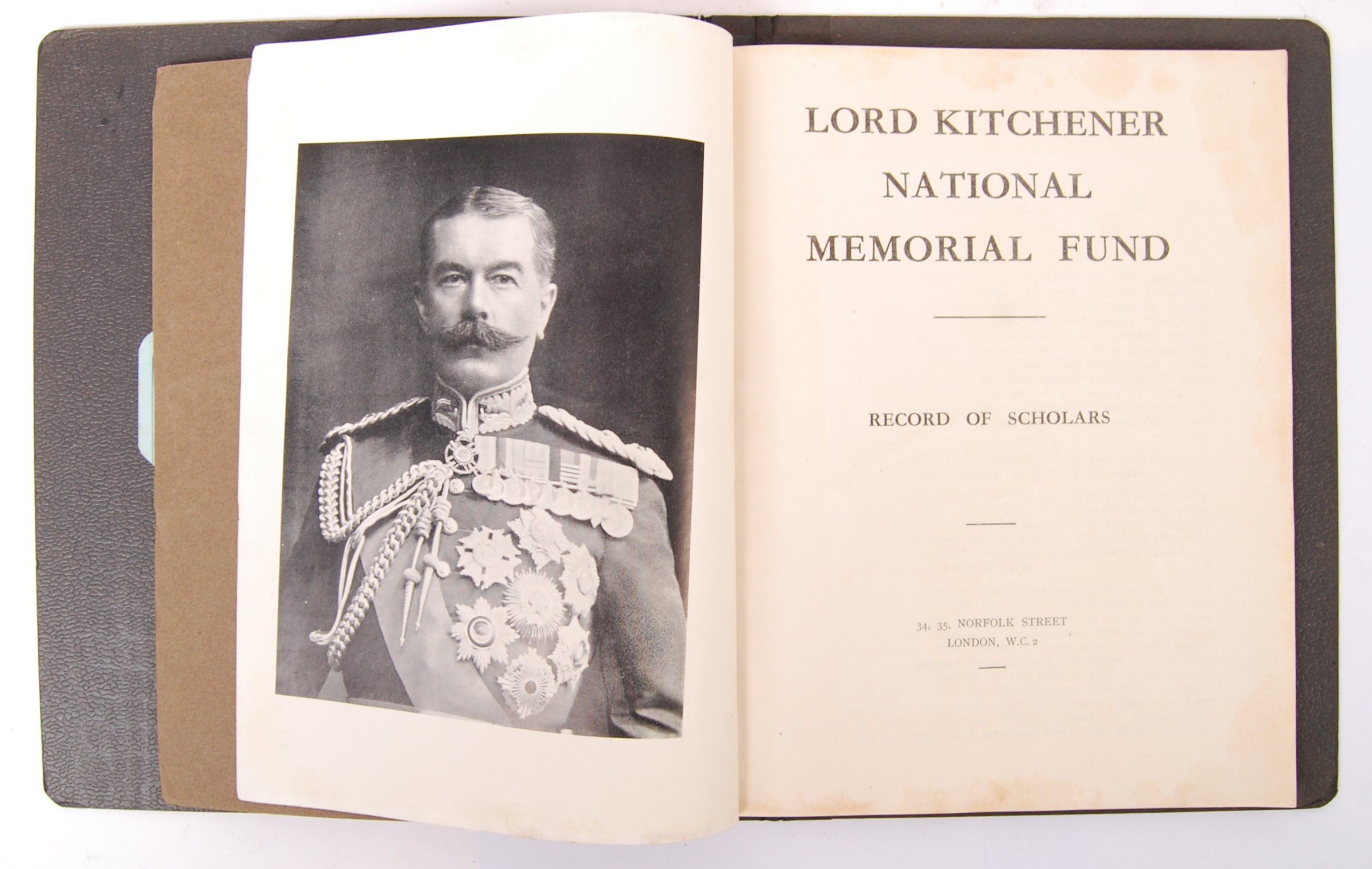 Lot 313 - LORD KITCHENER NATIONAL MEMORIAL FUND RECORD OF SCHOLARS