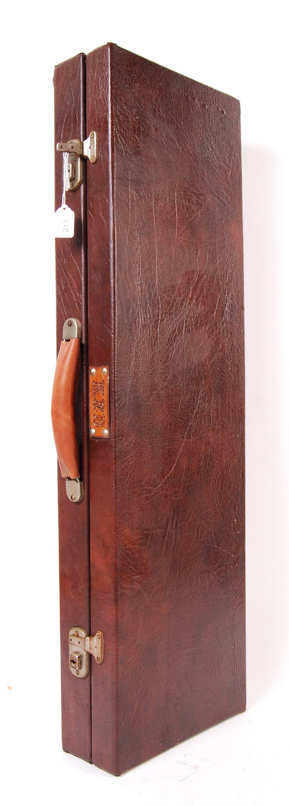 VINTAGE LEATHER SHOTGUN CASE WITH FITTED INTERIOR