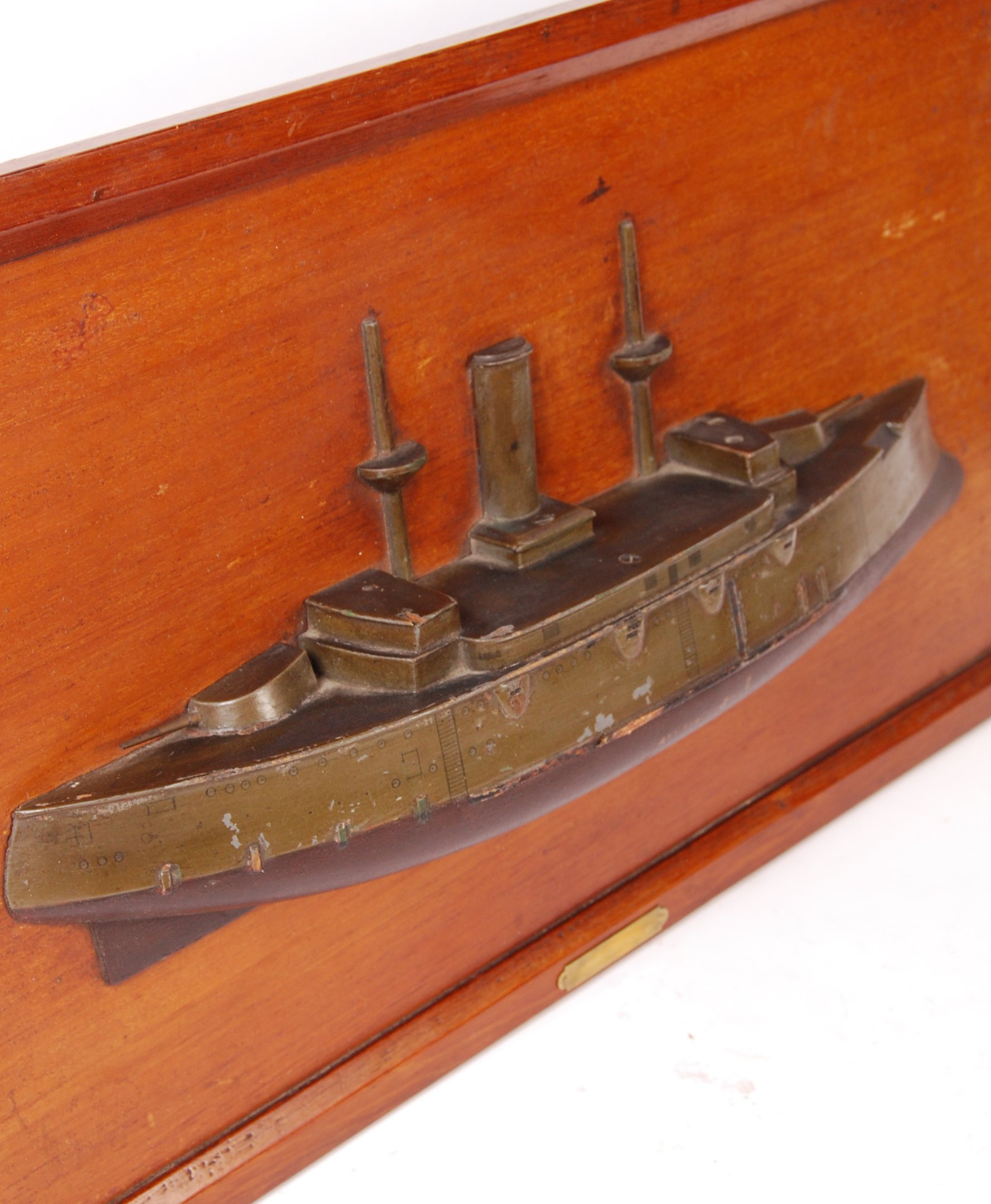 RARE WWI FRENCH HALF BLOCK MODEL OF AN IRONCLAD BATTERY - Image 3 of 4