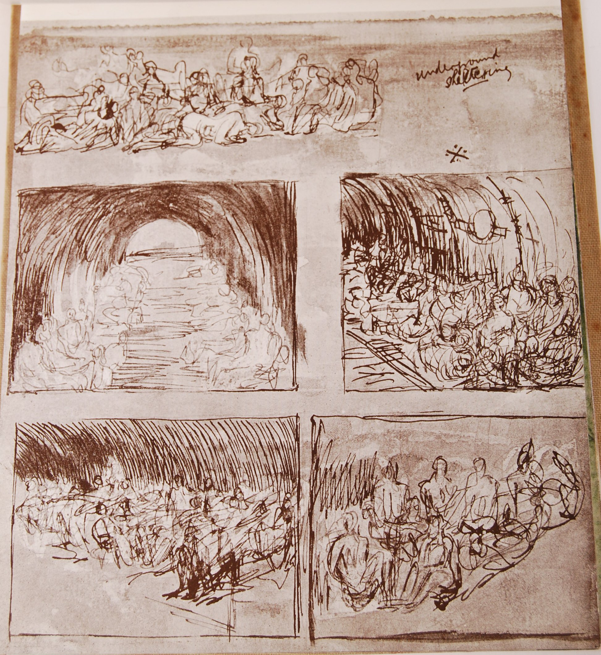HENRY MOORE WWII SECOND WORLD WAR SHELTER SKETCH BOOK - Image 5 of 8