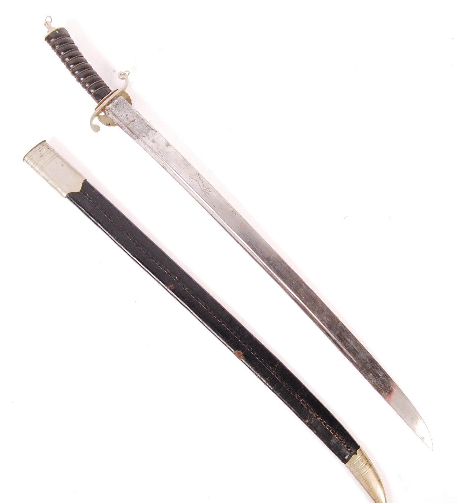 19TH CENTURY GERMAN / PRUSSIAN HUNTING SWORD - Image 2 of 4