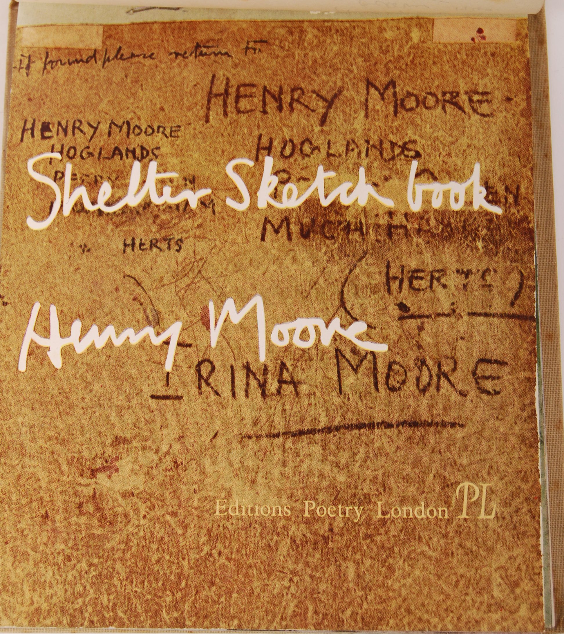HENRY MOORE WWII SECOND WORLD WAR SHELTER SKETCH BOOK - Image 3 of 8