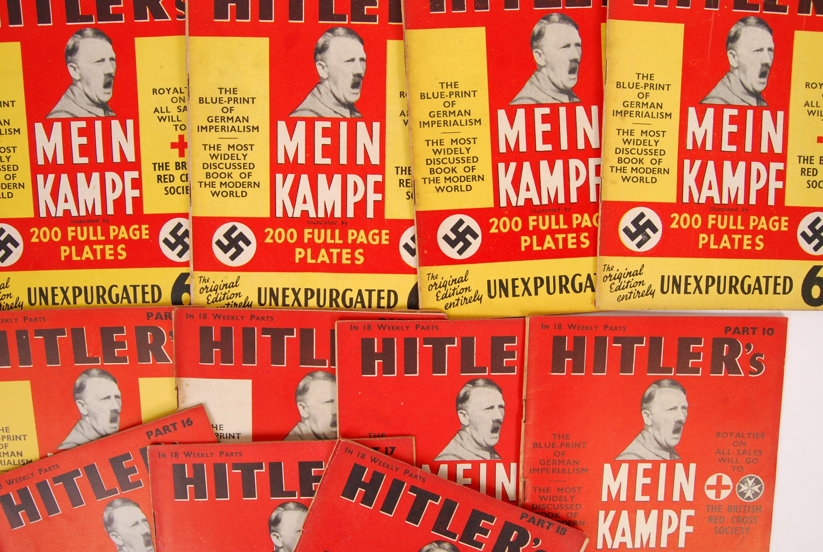 Lot 217 - WWII SECOND WORLD WAR BRITISH RED CROSS ' MEIN KAMPF ' MAGAZINES