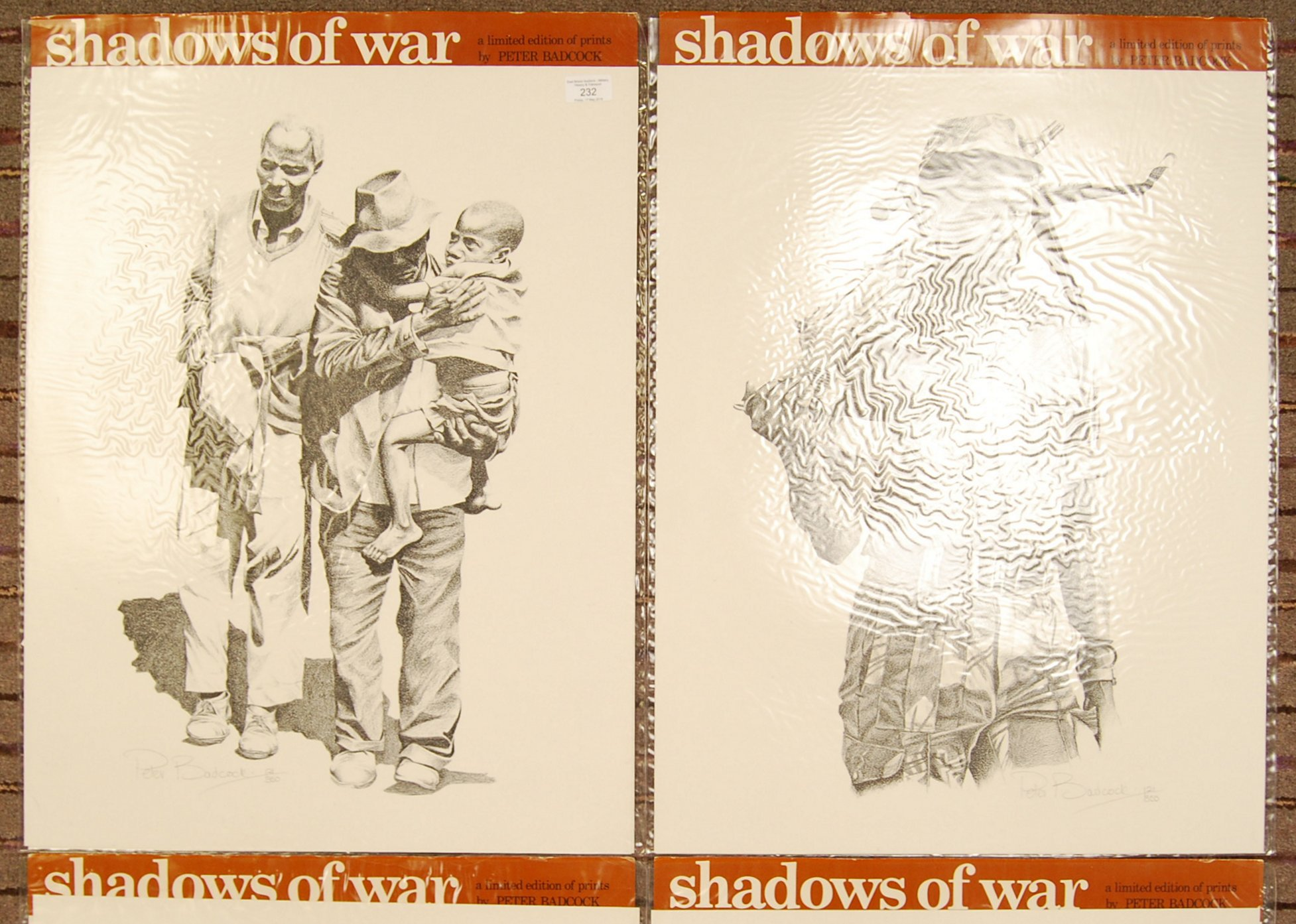 Lot 232 - RHODESIA SHADOWS OF WAR LIMITED EDITION PRINTS BY PETER BADCOCK