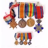 WWI FIRST WORLD WAR MEDAL GROUP - ORDER OF THE STAR OF ROMANIA