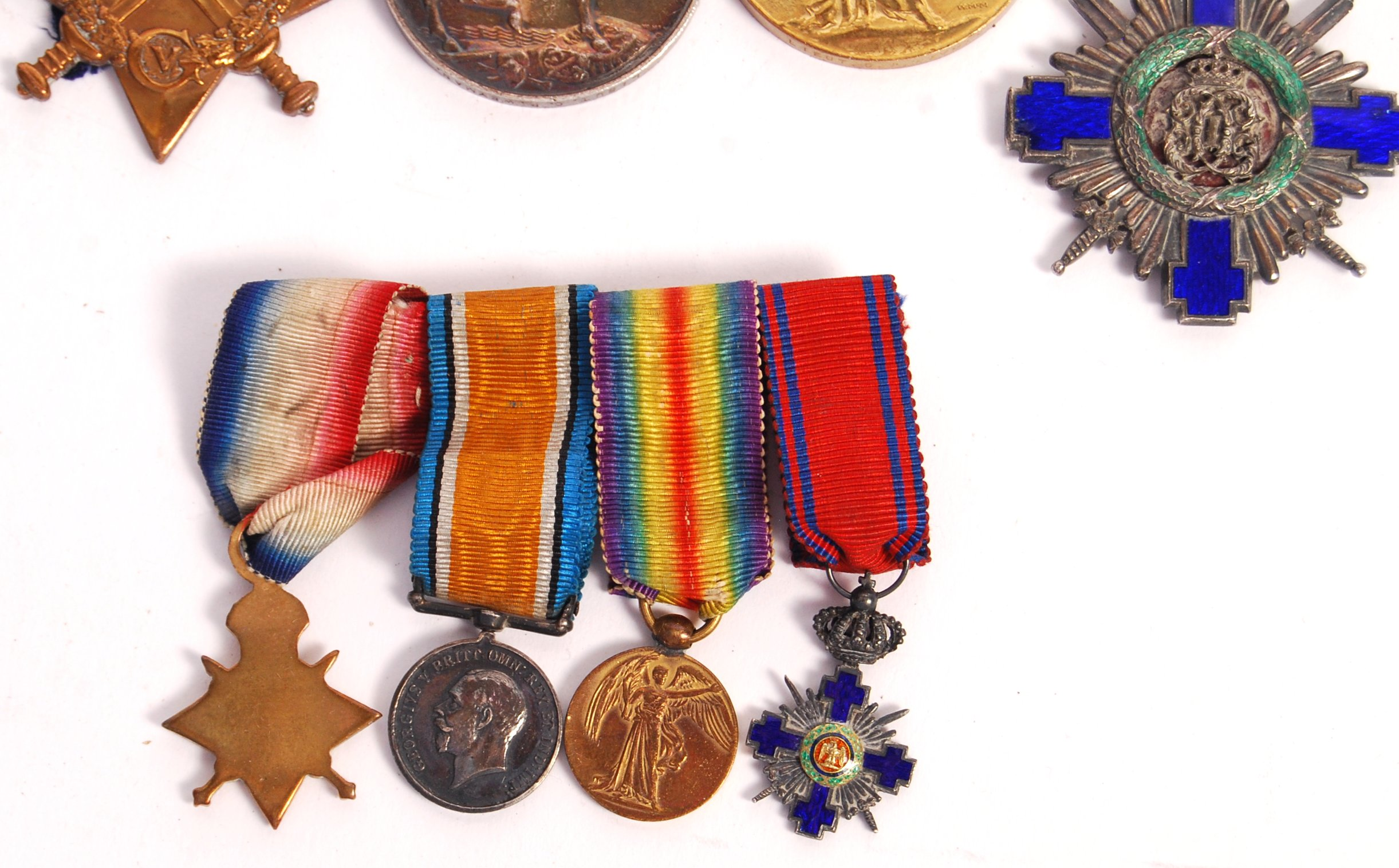 WWI FIRST WORLD WAR MEDAL GROUP - ORDER OF THE STAR OF ROMANIA - Image 3 of 8