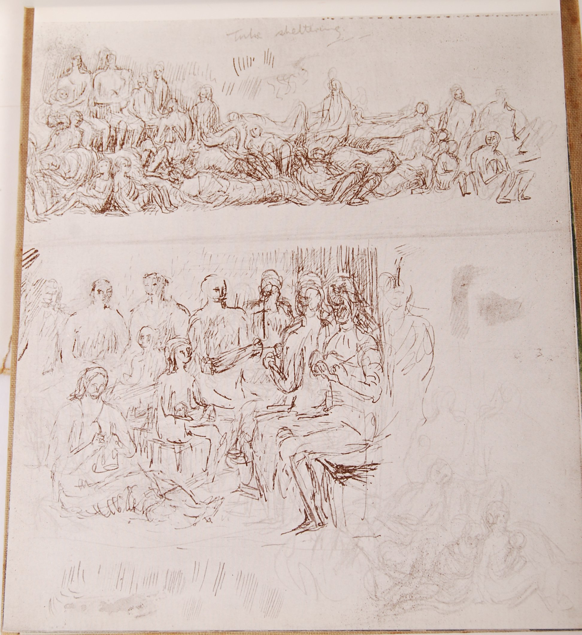HENRY MOORE WWII SECOND WORLD WAR SHELTER SKETCH BOOK - Image 4 of 8