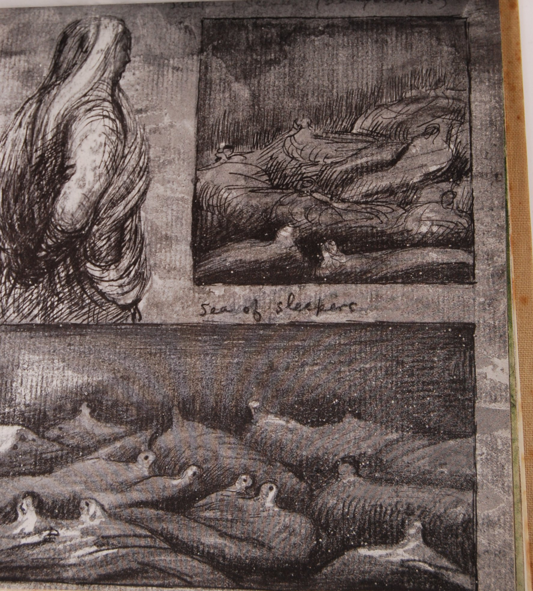 HENRY MOORE WWII SECOND WORLD WAR SHELTER SKETCH BOOK - Image 6 of 8
