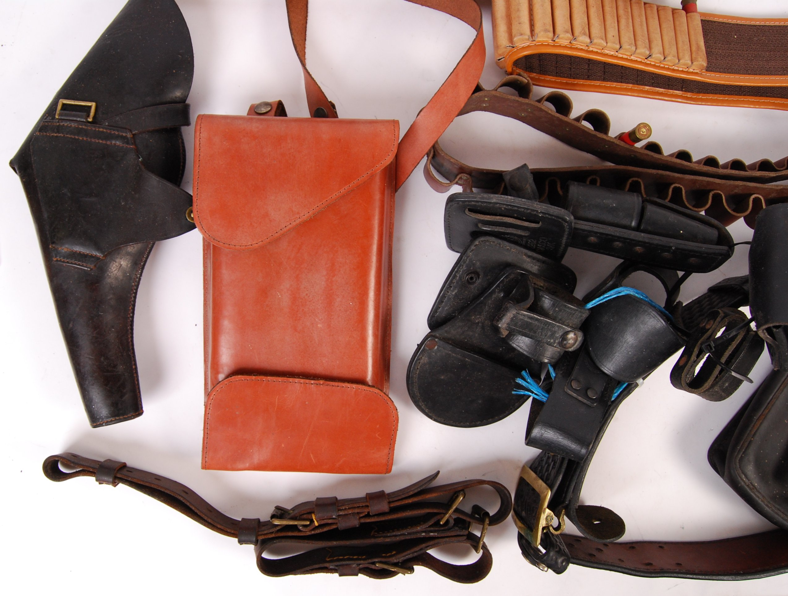ASSORTED 20TH CENTURY RE-ENACTMENT / FIREARM RELATED LEATHER BELTS - Image 3 of 6