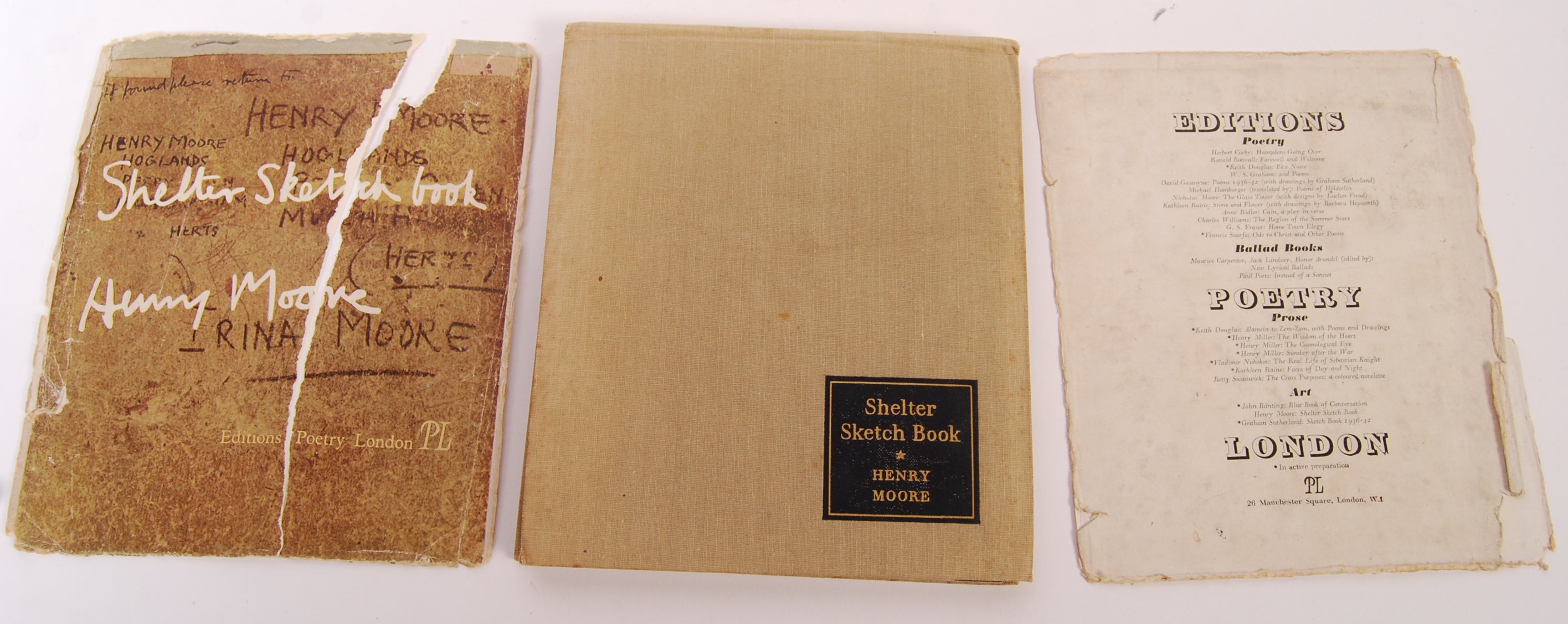 HENRY MOORE WWII SECOND WORLD WAR SHELTER SKETCH BOOK - Image 8 of 8