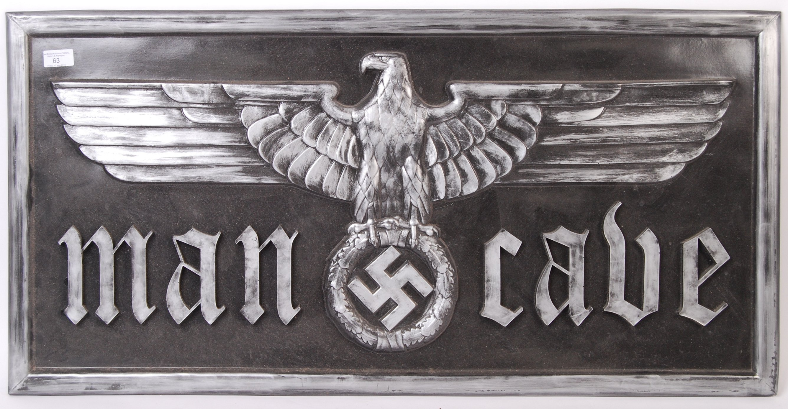 WWII SECOND WORLD WAR NAZI THIRD REICH INSPIRED WALL PLAQUE