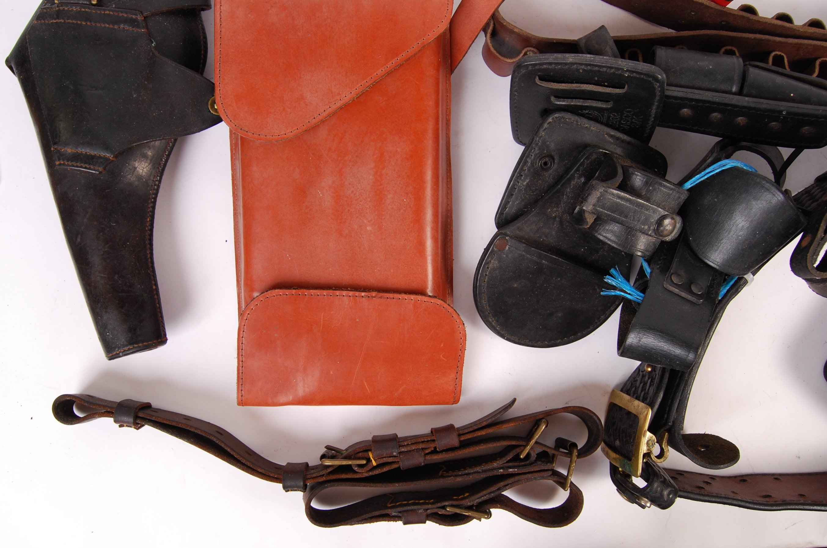 ASSORTED 20TH CENTURY RE-ENACTMENT / FIREARM RELATED LEATHER BELTS - Image 6 of 6