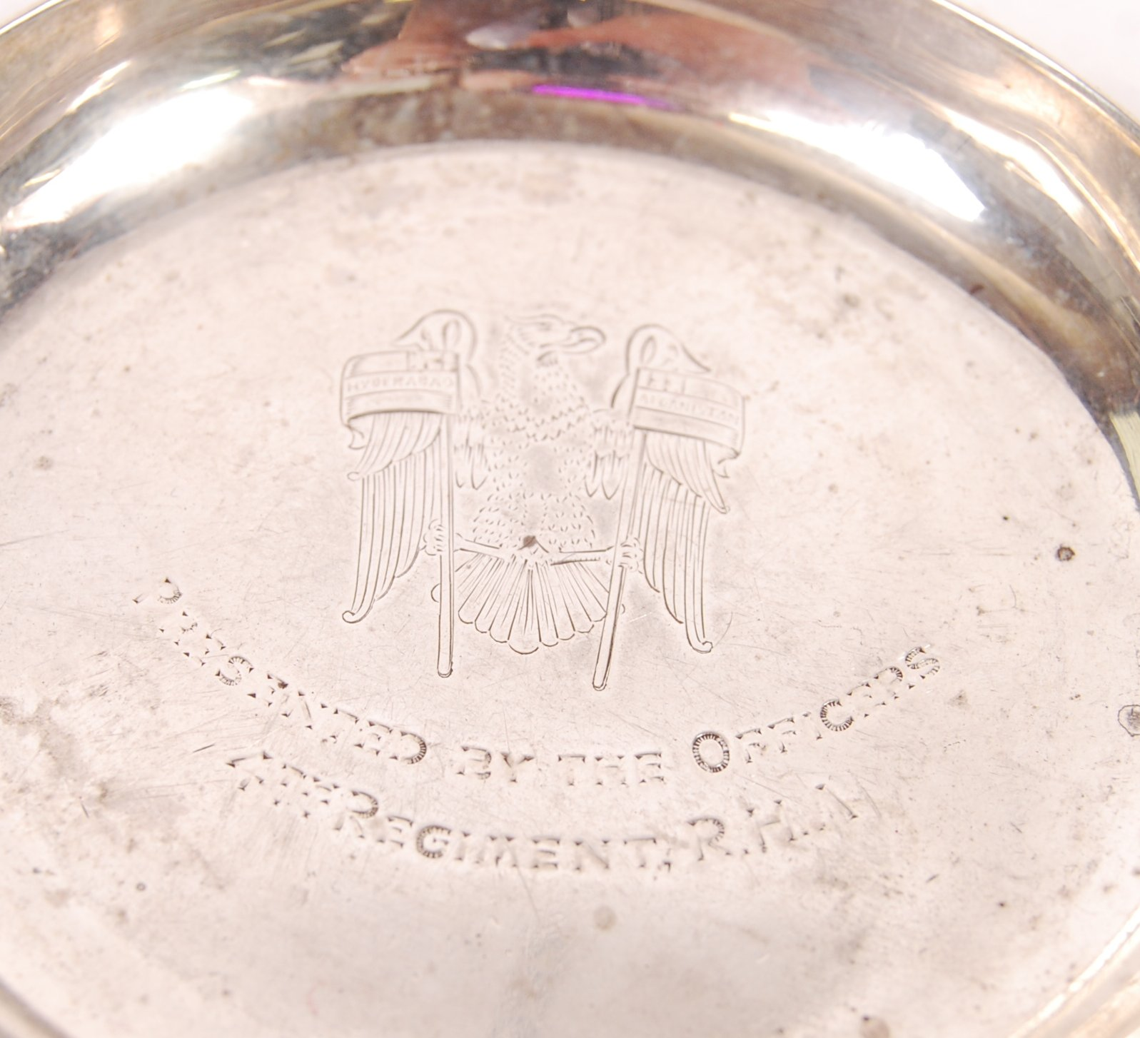 HALLMARKED SILVER MILITARY RELATED PIN DISHES - Image 2 of 5