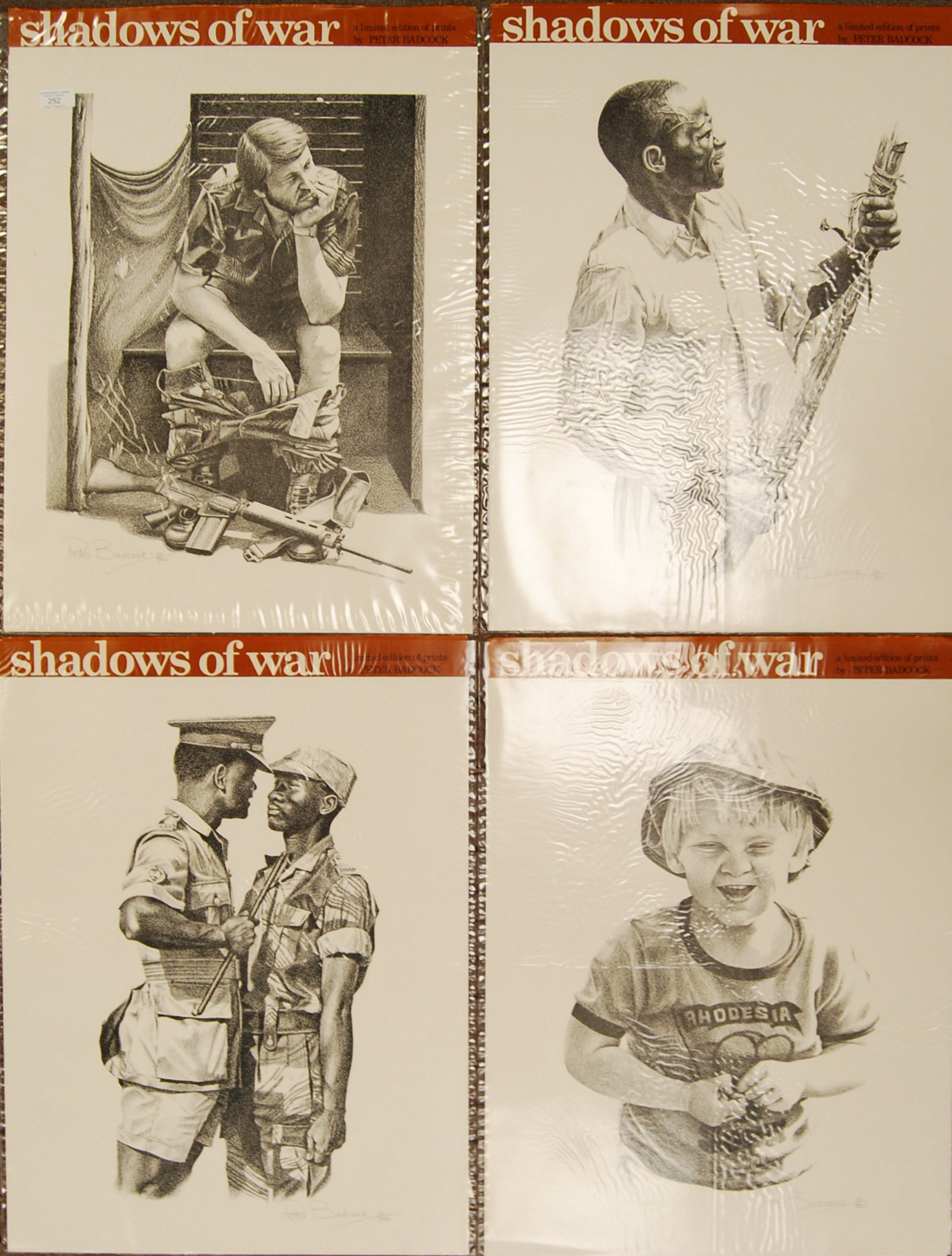 RHODESIA SHADOWS OF WAR LIMITED EDITION PRINTS BY PETER BADCOCK