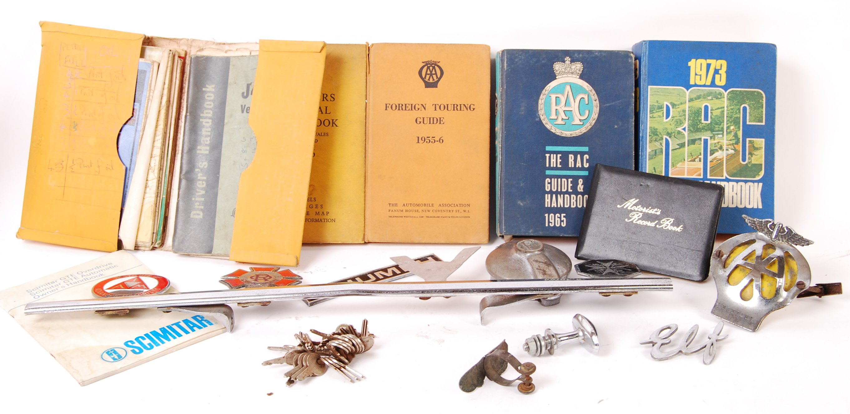 COLLECTION OF ASSORTED 1950'S MOTORING RELATED ITEMS