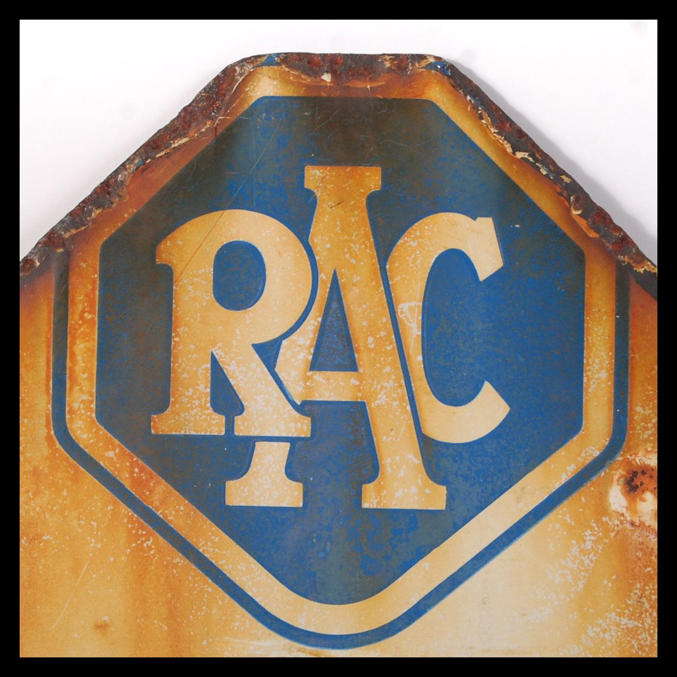 RARE ORIGINAL 1960'S RAC ENAMEL ROAD SIGN FOR BURNHAM ON SEA - Image 3 of 4