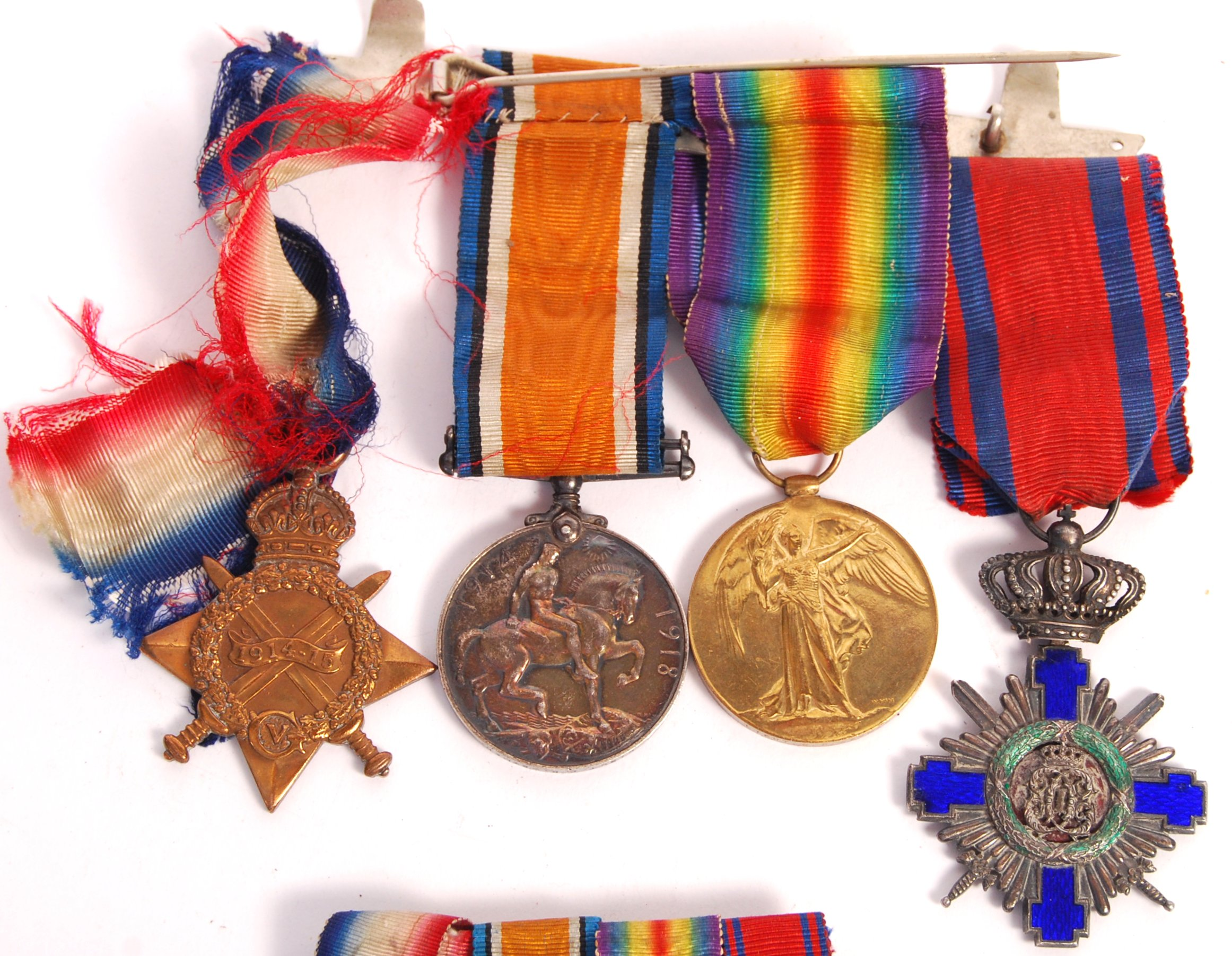 WWI FIRST WORLD WAR MEDAL GROUP - ORDER OF THE STAR OF ROMANIA - Image 2 of 8