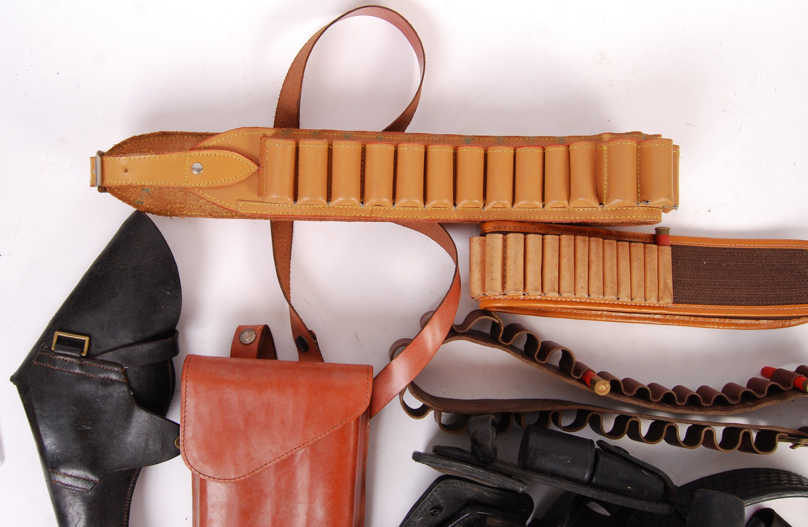 ASSORTED 20TH CENTURY RE-ENACTMENT / FIREARM RELATED LEATHER BELTS - Image 2 of 6