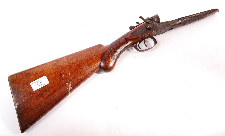 Lot 107 - ANTIQUE 19TH CENTURY SHOTGUN BUTT