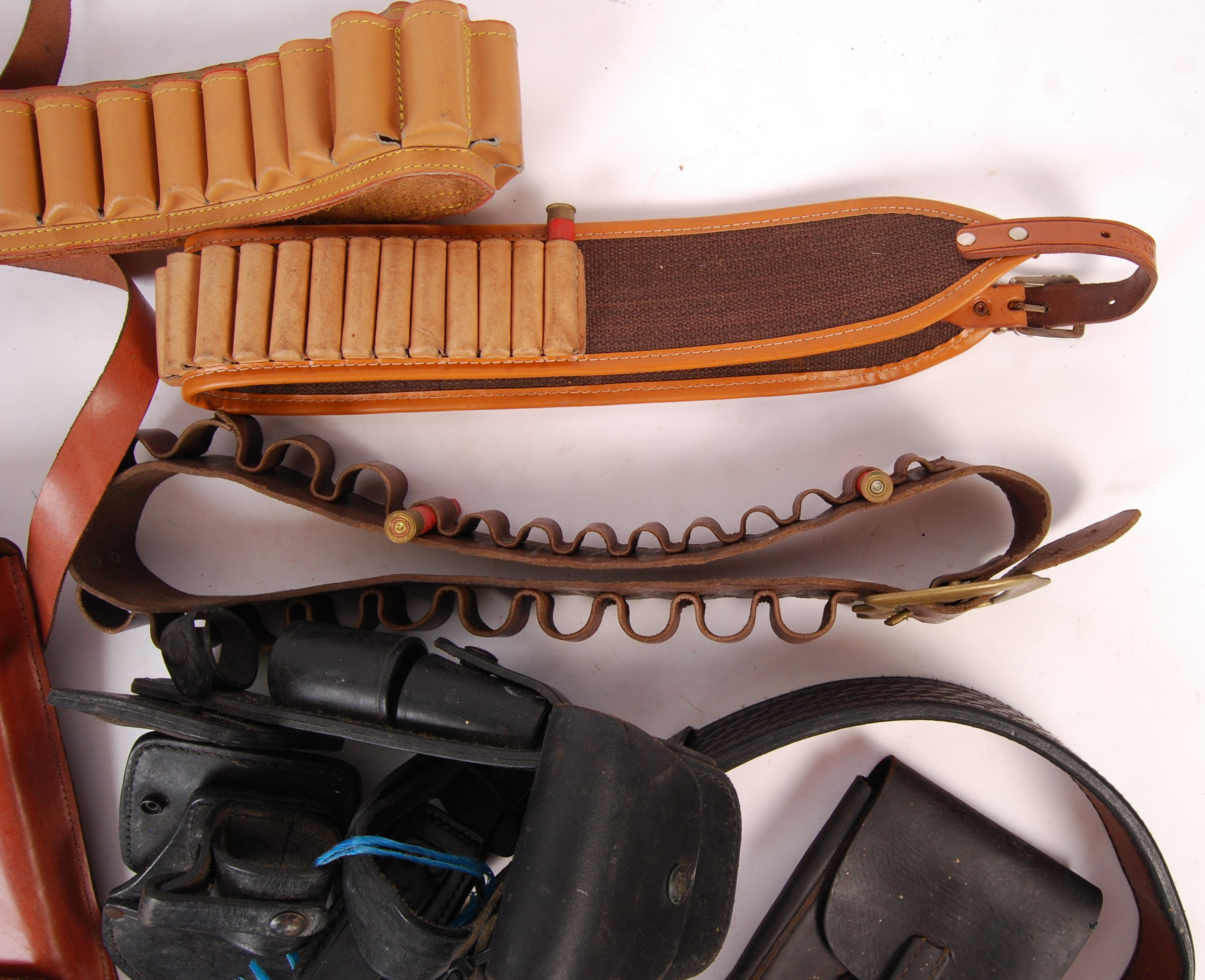 ASSORTED 20TH CENTURY RE-ENACTMENT / FIREARM RELATED LEATHER BELTS - Image 5 of 6