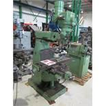 NANTONG VERTICAL MILLING MACHINE, MODEL XU6325, S/N 7036, 9'' X 42'' TABLE